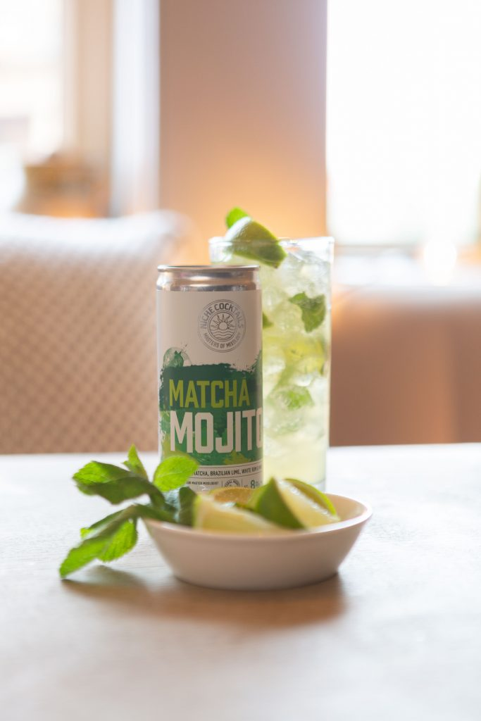 Canned mojito cocktail