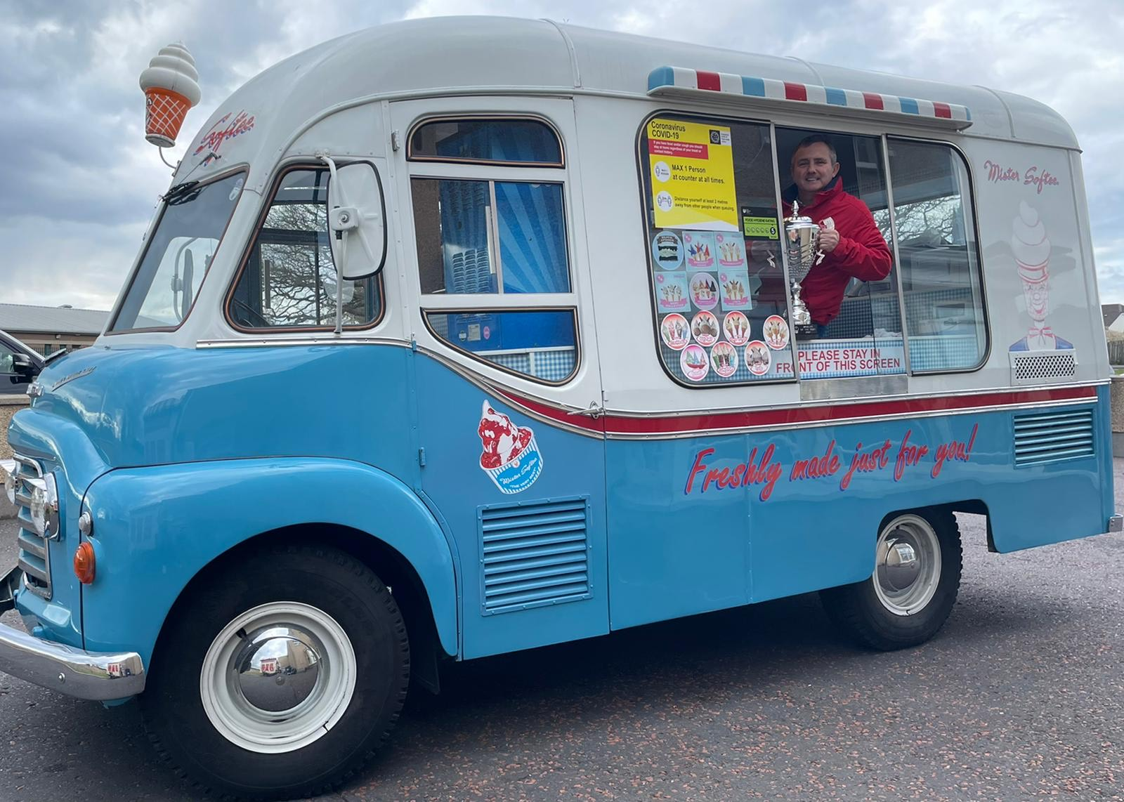 Ice cream van man Jimmy scoops historic win