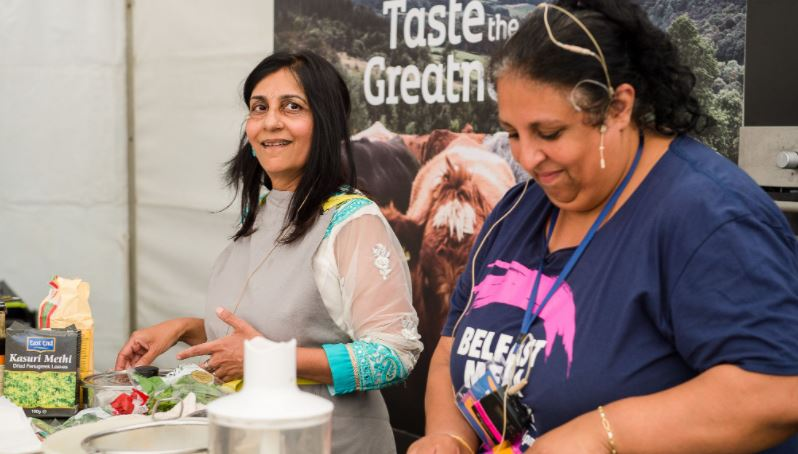 Foods of the world at 15th Belfast Mela